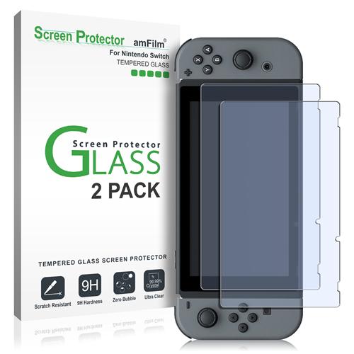 amFilm Nintendo Switch Glass Screen Protector (2-Pack)
