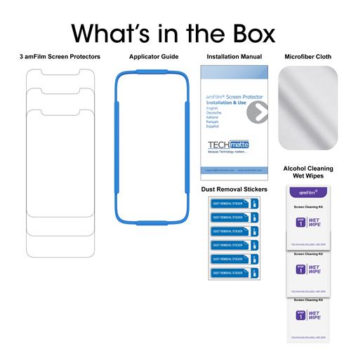 amFilm iPhone XR Glass Screen Protector 3-Pack - TechMatte
